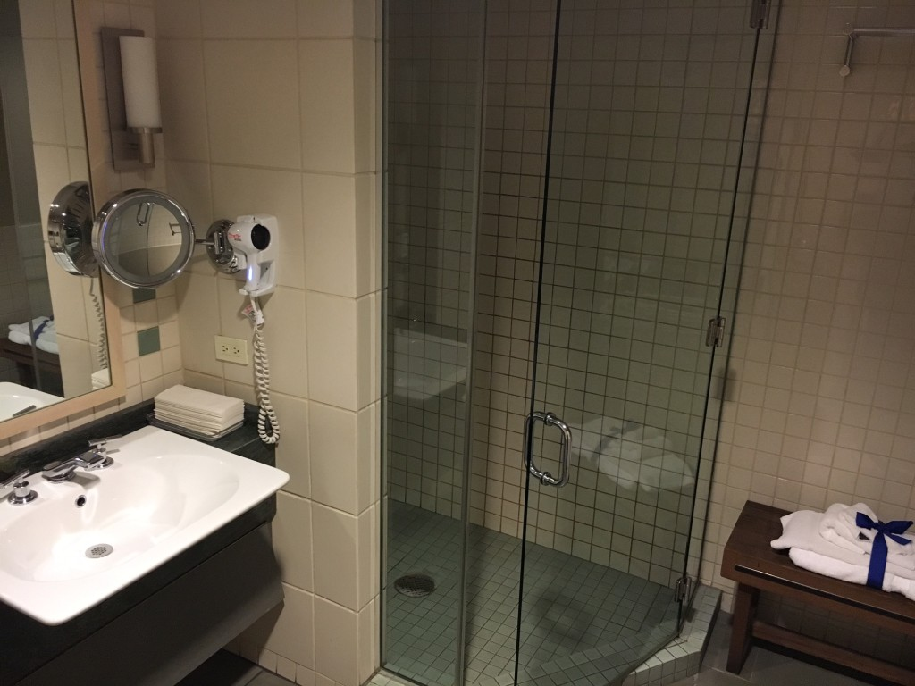 Shower at JFK Admirals Club