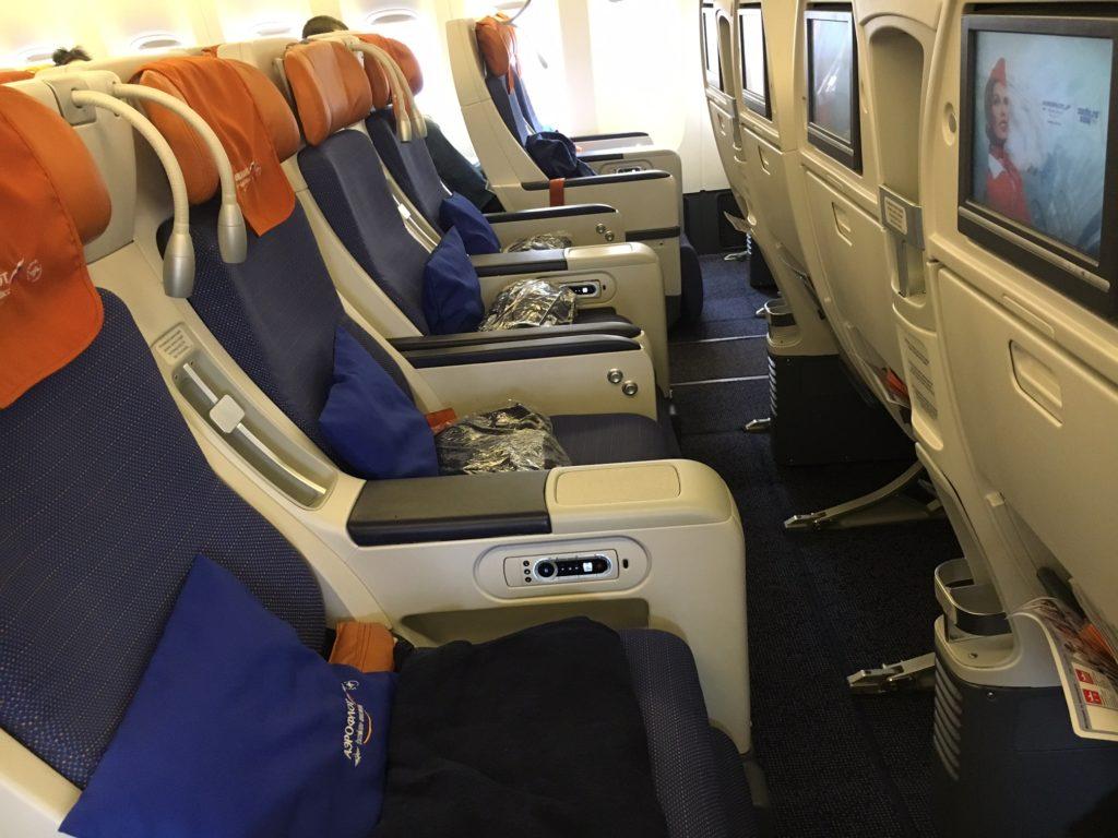 Aeroflot Comfort Class seats